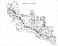 Sanders County, Cabinet National Forest, McDonald, Flathead Indian Reservation, Weeksville, Lonepine, Richards, Montana State Atlas 1950c