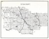 Teton County, Lewis and Clark National Forest, Choteau, Claude, Koyl, Farmington, Teton Ridge, Cordova, Cargill, Dutton, Montana State Atlas 1950c