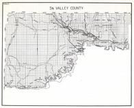 Valley County - South, Fort Peck Reservation, Wheeler, Paisley, Tampico, Whately, Nashua, Midway, New Deal, Kintyre, Frazer, Montana State Atlas 1950c