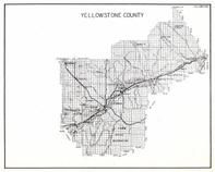 Yellowstone County, Crow Indian Reservation, Shorey, Wickett, Laurel, Newton, Shepherd, Osborn, Wanetts, Comanche, Montana State Atlas 1950c