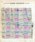 Cass County Outline Map, Cass County 1893