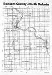 Ransom County Index Map 1, Ransom and Sargent Counties 1987