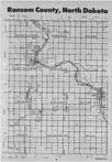 Ransom County Index Map 1, Ransom and Sargent Counties 1989