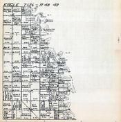Eagle Township, Township 136, Ranges 48 and 49, Christine, Richland County 1922