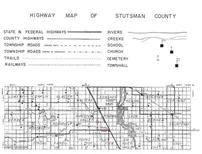 Highway Map of Stutsman County 1, Stutsman County 1958