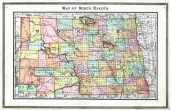 North Dakota State Map, Traill and Steele Counties 1892