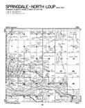 Springdale and North Loup Townships - North, Valley County 1973