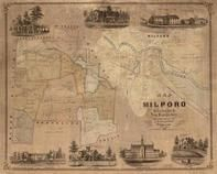 Milford 1854 Wall Map, Milford 1854 Wall Map