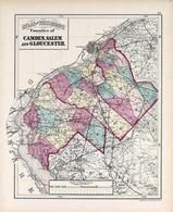 Camden, Salem and Goucester Counties, New Jersey State Atlas 1873 Jersey City and former Greenville Township