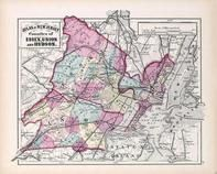Essex, Union and Hudson Counties, New Jersey State Atlas 1873 Jersey City and former Greenville Township
