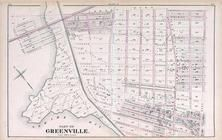 Greenville 2, New Jersey State Atlas 1873 Jersey City and former Greenville Township