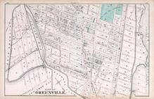 Greenville 3, New Jersey State Atlas 1873 Jersey City and former Greenville Township