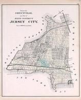 Jersey City - Sixth District, New Jersey State Atlas 1873 Jersey City and former Greenville Township