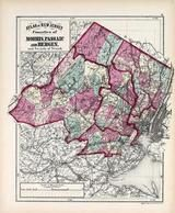 Morris, Passaic and Bergen Counties, New Jersey State Atlas 1873 Jersey City and former Greenville Township