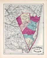 Ocean County, New Jersey State Atlas 1873 Jersey City and former Greenville Township