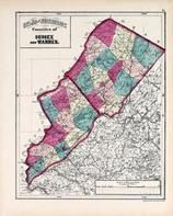 Sussex and Warren Counties, New Jersey State Atlas 1873 Jersey City and former Greenville Township