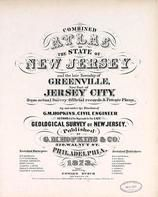 New Jersey State Atlas 1873 Jersey City and former Greenville Township