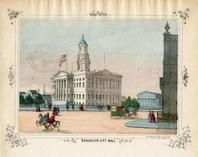 Brooklyn City Hall 1850 to 1899 Colored View - 04x069.1, Brooklyn City Hall 1850 to 1899 Colored View - 04x069.1