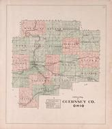 Guernsey County Outline Map, Guernsey County 1902