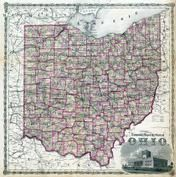 Ohio State Map, Hocking County 1876