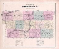 Index Map, Holmes County 1875