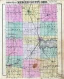 Mercer County Outline Map, Mercer County 1888
