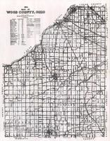 Wood County Highway  Map, Wood County 1954
