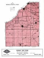 Wood County Index Map, Wood County 1954