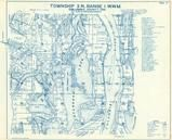 Township 3 N., Range 1 W., Sturgeon Lake, Sauvie Isl, Columbia River, Columbia County 1956