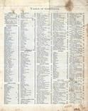 Table of Contents, Cambria County 1890 Published by Atlas Publishing Company