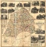 Chester County 1860 Wall Map