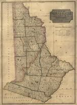 Wayne and Pike Counties 1814 Wall Map