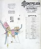 Title Page, Index Map, Montpelier 1889