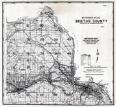 Title Page, Index Map 1, Benton County 1976