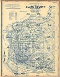 Index Map, Title Page, Clark County 1961