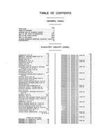 Table of Contents, Klickitat County 1913 Version 2