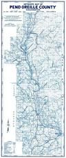 Pend Oreille Map, Pend Oreille County 1965c