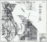 Page 121 - Township 21 N., Range 2 E., Tacoma Narrows Bridge, Gateway, Defiance Park, Ruston, Pierce County 1965 Version 2 - 4 inches to a mile
