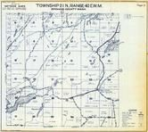 Township 21 N., Range 40 E., Williams Lake, Downs Lake, Spokane County 1950