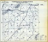 Township 21 N., Range 41 E., Williams Lake, Badger Lake, Spokane County 1950