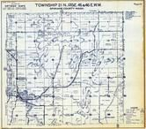 Township 21 N., Range 45 and 46 E., Latah, Rahms, Spokane County 1950