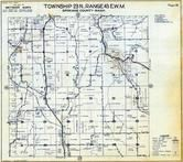 Township 23 N., Range 43 E., Duncan, California Creek, Spokane County 1950