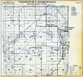 Township 24 N., Range 40 E., Medical Lake, Espanola, Spokane County 1950
