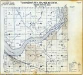 Township 27 N., Range 40 E., Long Lake Reservoir, Corkscrew Canyon, Spokane County 1950