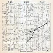 Lima Township, Lima Center, Rock County 1947