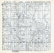 Rib Lake and Greenwood Townships, Interwald, Taylor County 1957