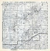 Rib Lake and Westboro Townships, Taylor County 1957