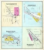 Saint Lawrence, Ackerville, Kohlville, Richfield, Washington and Ozaukee Counties 1892 Published by C.M. Foote & Co