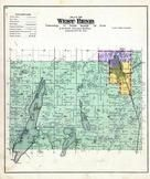 West Bend Township, Cedar Lake Park, Washington and Ozaukee Counties 1892 Published by C.M. Foote & Co