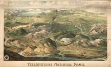 Yellowstone National Park 1904c Bird's Eye View, Yellowstone National Park 1904c Bird's Eye View